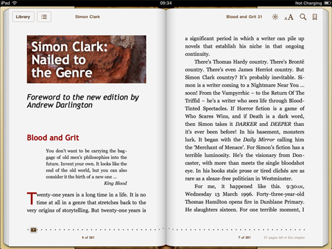 iBooks for iPad landscape