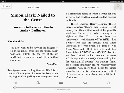 Kindle app for iPad landscape